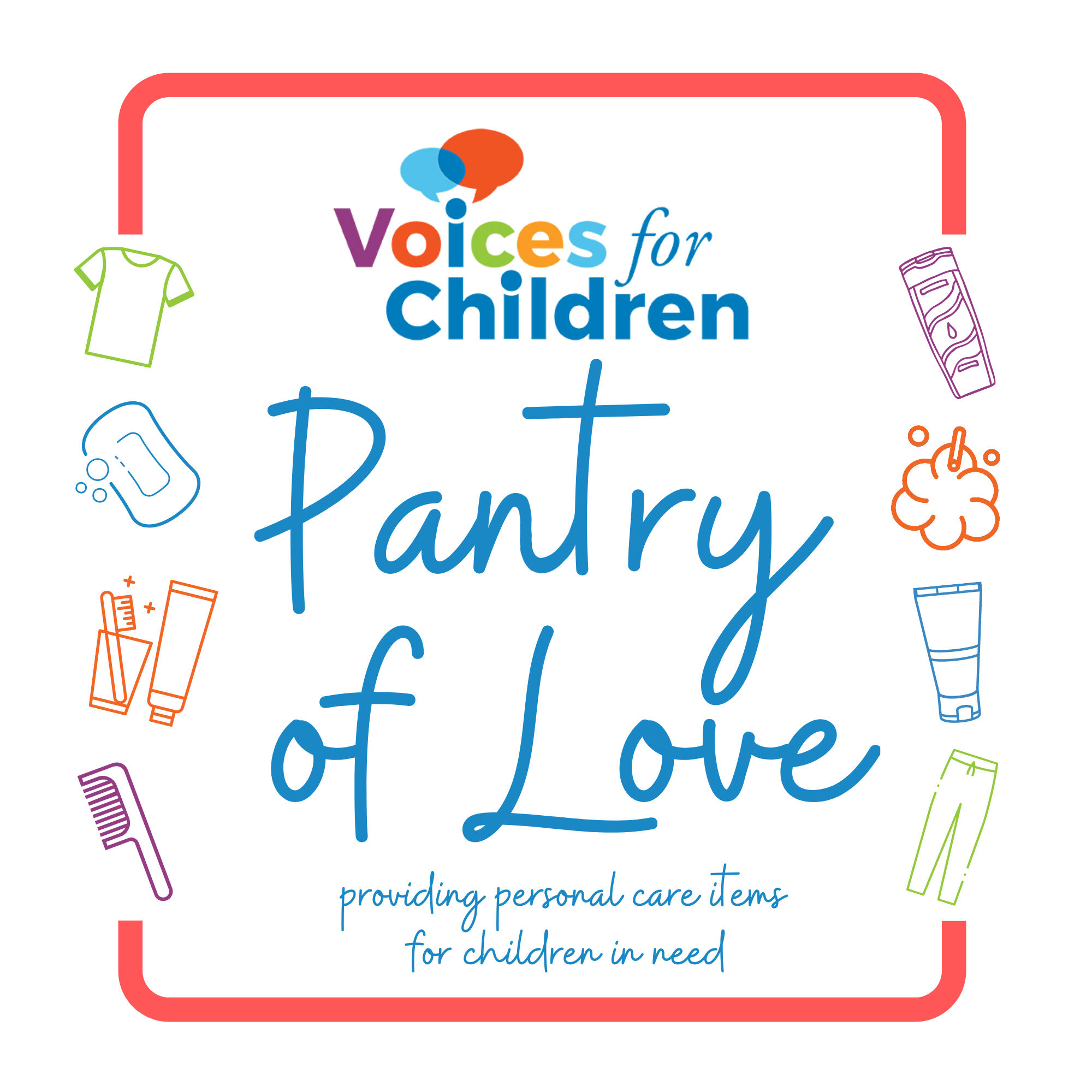 Pantry of Love: providing personal care items for children in need